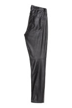 Imitation leather trousers - Black - Men | H&M CN 3