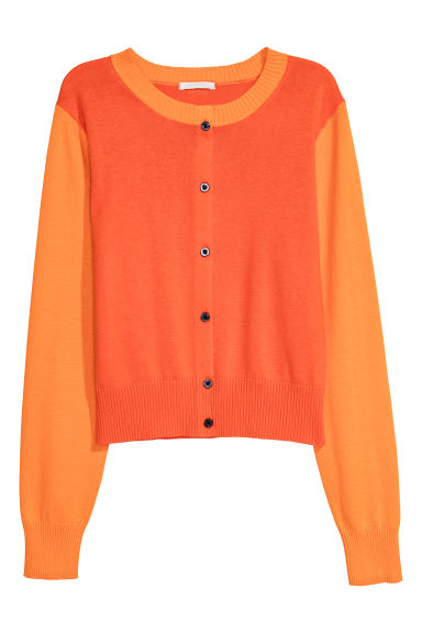 Cotton cardigan - Orange - Ladies | H&M