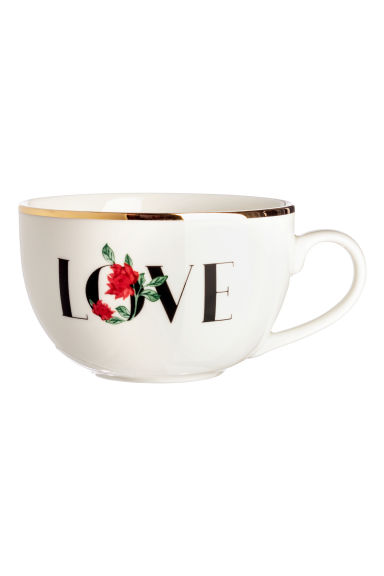 Porcelain cup with a motif - White -  | H&M GB
