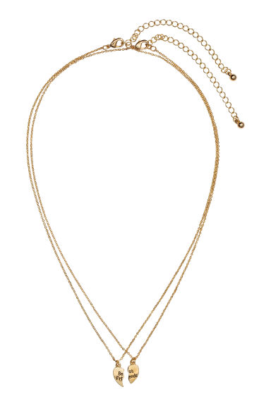 Friendship necklaces - Gold-coloured - Ladies | H&M