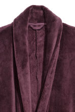 Fleece dressing gown - Plum - Men | H&M 3