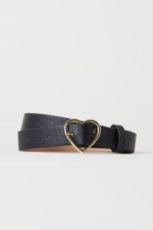 Belt with Heart-shaped Buckle