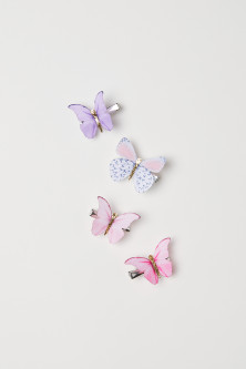 4-pack Butterfly Hair Clips