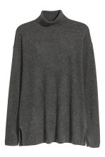 Cashmere polo-neck jumper - Dark grey - Ladies | H&M CN 2