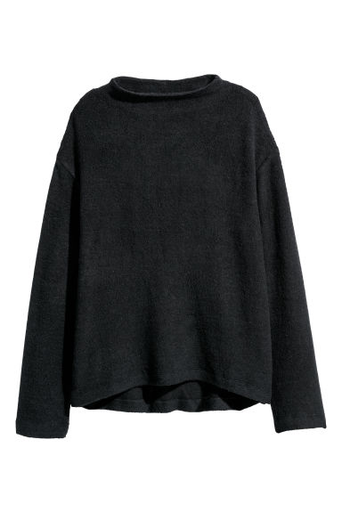 Wide top - Black marl - Ladies | H&M