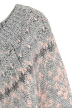 Jacquard-knit jumper - White/Grey - Ladies | H&M 3