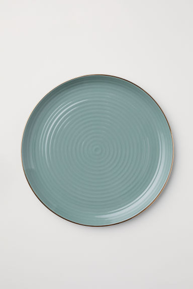 Textured porcelain dish - Dusky green - Home All | H&M CA