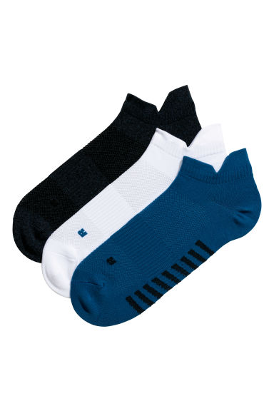 3-pack sports socks - Blue/White - Men | H&M