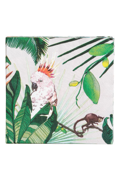 Paper napkins - Light pink/Jungle -  | H&M IE