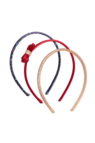 3-pack Alice bands - Red/Glittery - Kids | H&M CN