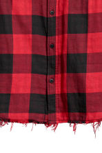 Checked flannel shirt - Red/Black checked - Men | H&M IE 3