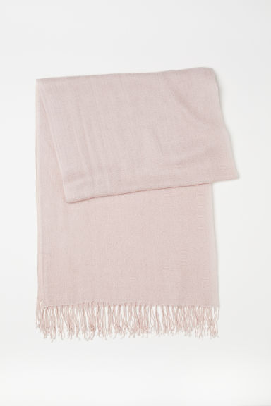 Woven scarf - Light pink - Ladies | H&M CA