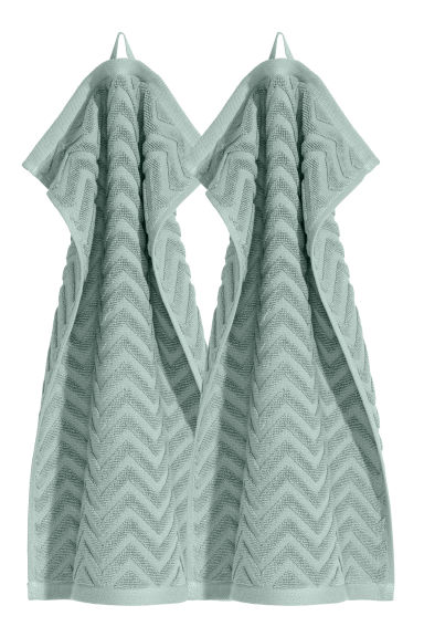 2-pack guest towels - Light green - Home All | H&M CN 1