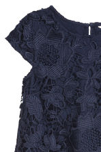 Lace dress - Dark blue - Kids | H&M CN 3
