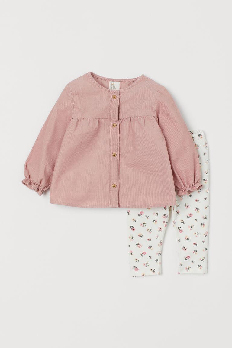 Dress and leggings - Powder pink/Floral - Kids | H&M GB