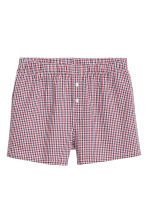 3-pack woven boxer shorts - Dark blue/Patterned - Men | H&M CN 5