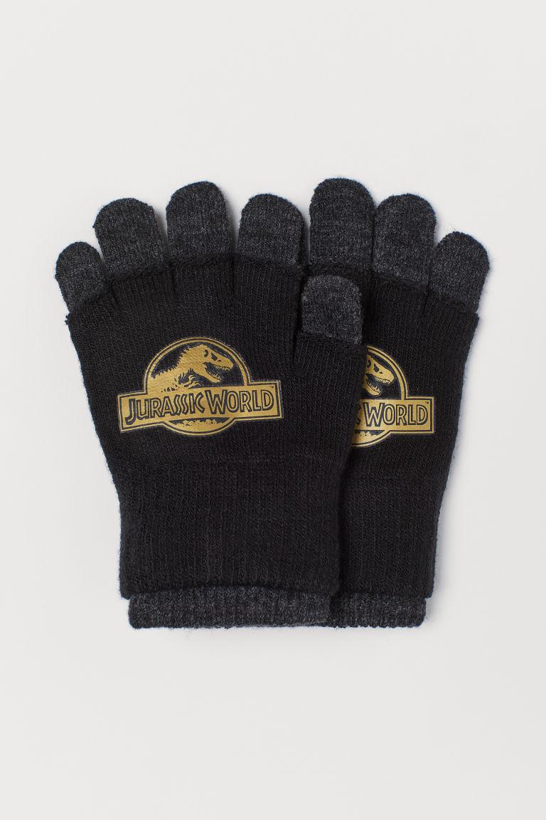 Gloves/Fingerless gloves - Black/Jurassic World - Kids | H&M GB