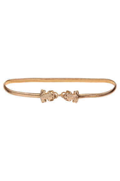 Metal waist belt - Gold-coloured - Ladies | H&M GB