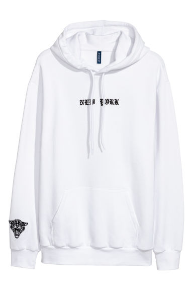 Hooded top - White -  | H&M IE