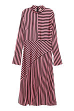 Asymmetric dress - Pink/Black striped - Ladies | H&M 2