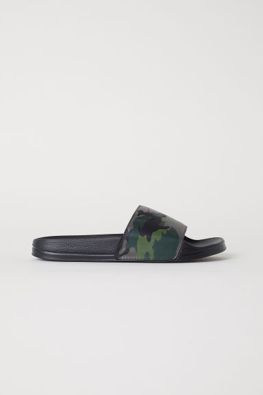 Pool shoes - Khaki green/Patterned - Men | H&M CN