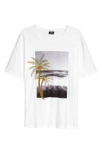 T-shirt with embroidery - White - Men | H&M 2