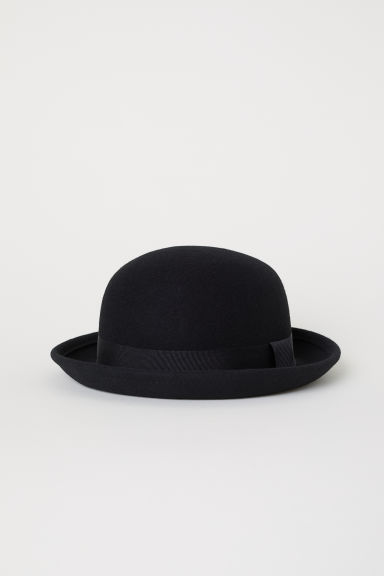 Felted wool hat - Black - Ladies | H&M CN