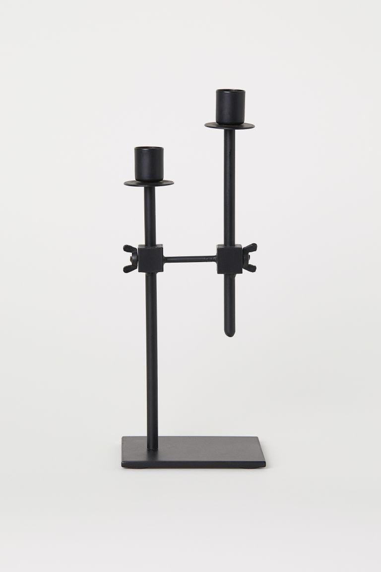 Metalen kandelaar - Zwart - HOME | H&M NL 1