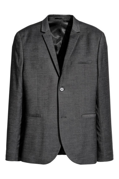 Jacket Super skinny fit - Black marl - Men | H&M CN