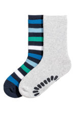 2er-Pack Antirutsch-Socken - Blau/Gestreift -  | H&M CH 1