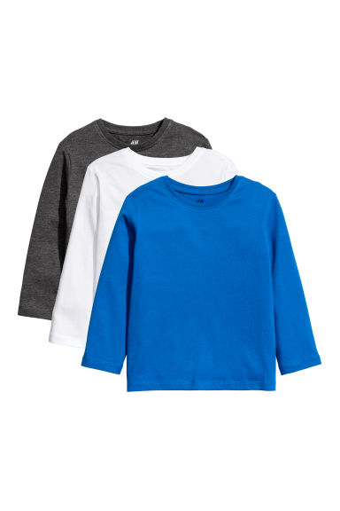 3-pack jersey tops - Bright blue - Kids | H&M