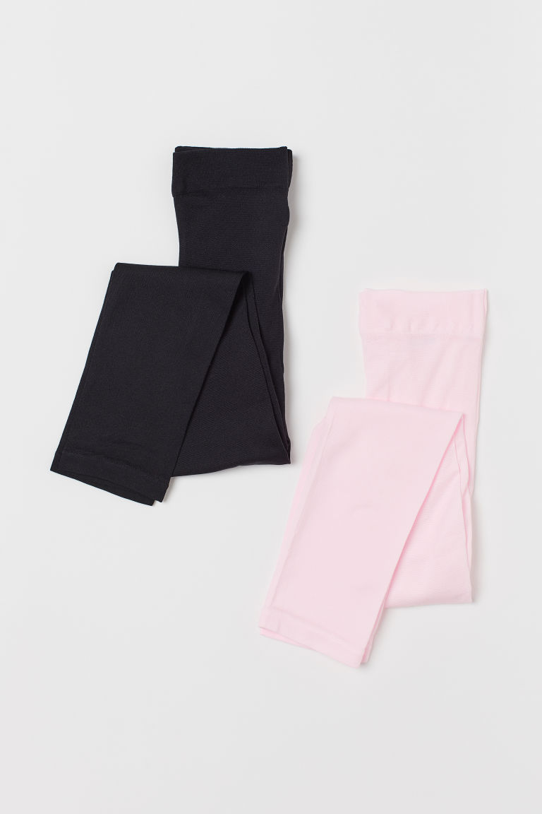 2-pack dance leggings - Light pink/Black - Kids | H&M GB