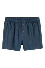 3-pack woven boxer shorts - Dark blue/Checked - Men | H&M IE 5