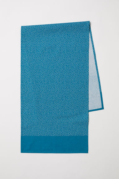Cotton table runner - Dark turquoise/Spotted - Home All | H&M CN
