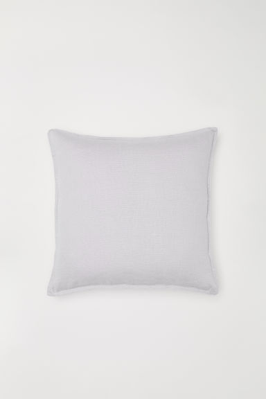 Washed linen cushion cover - Light grey - Home All | H&M IE