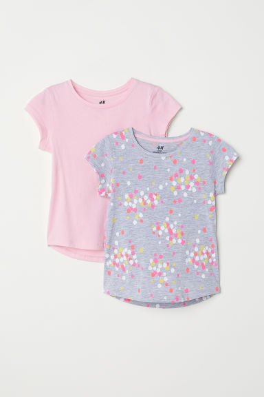 T-shirts, lot de 2 - Gris chiné/pommes -  | H&M FR