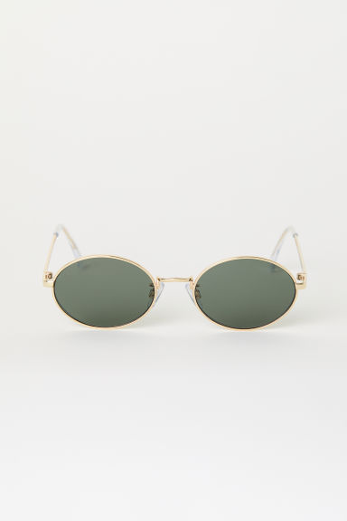 Sunglasses - Gold-coloured/Dark green - Ladies | H&M CN