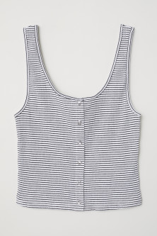 Vest top with press-studs
