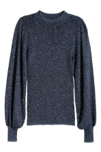 Glittery jumper - Dark blue/Glittery - Ladies | H&M 2