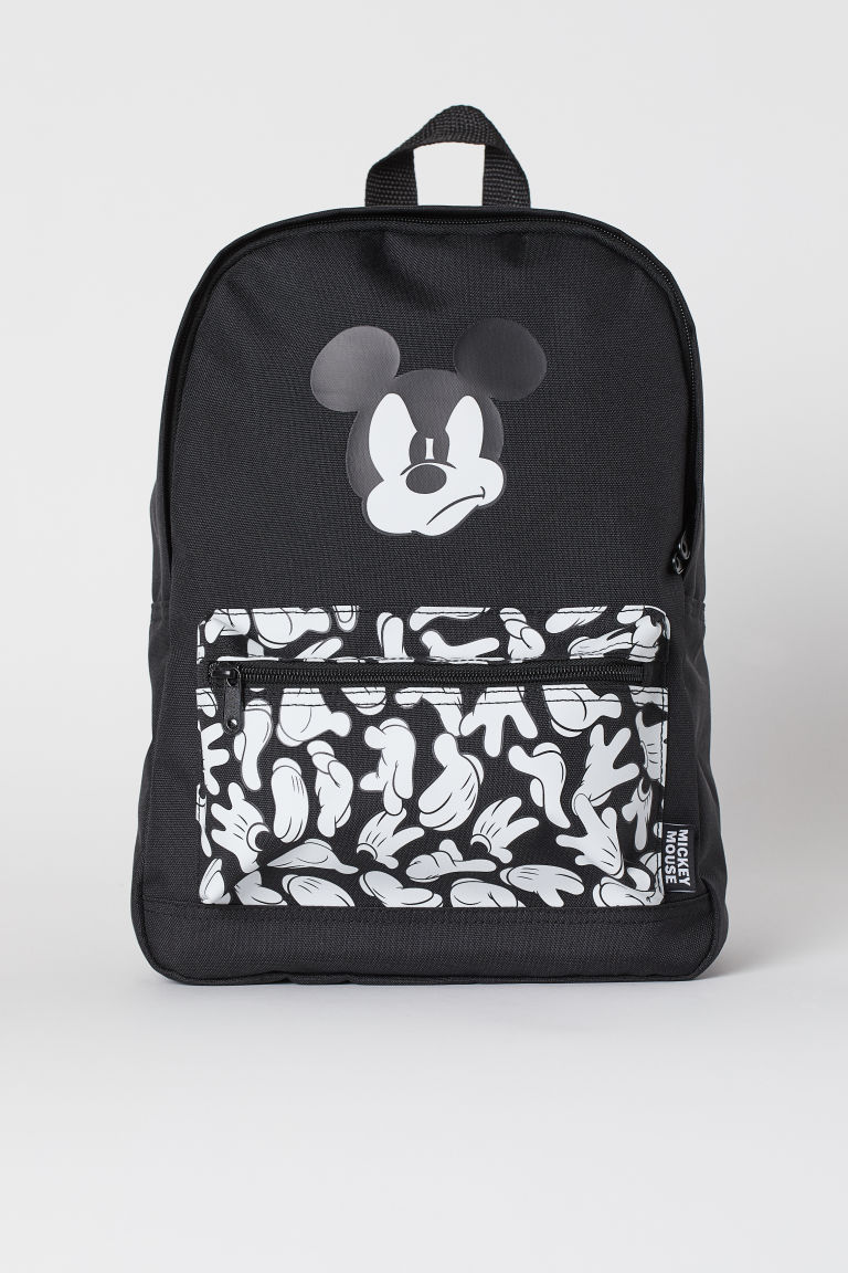 Printed backpack - Black/Mickey Mouse - Kids | H&M GB