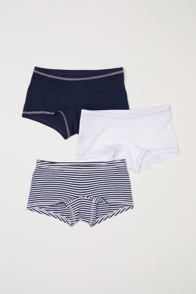 3-pack boxer briefs - Dark blue/Striped - Kids | H&M CN