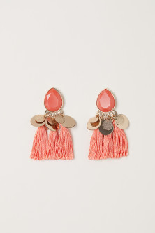 Tasselled earrings