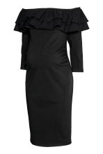 MAMA Off-the-shoulder dress - Black - Ladies | H&M 3