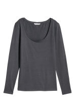Jersey top - Grey-blue - Ladies | H&M 1