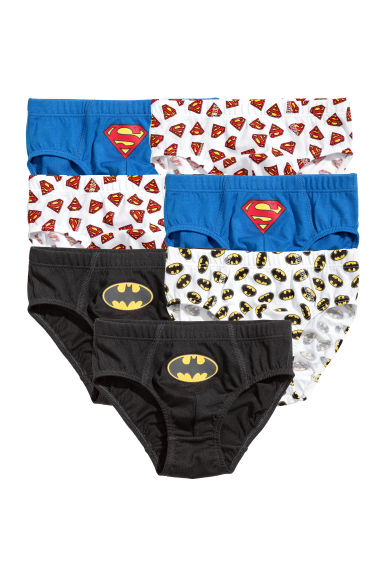 7er-Pack Slips - Blau/Superman/Batman - KINDER | H&M CH