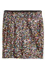 Glittery skirt - Black/Multicoloured - Ladies | H&M IE 2