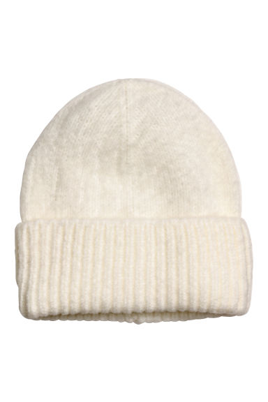 Fine-knit hat - White - Ladies | H&M