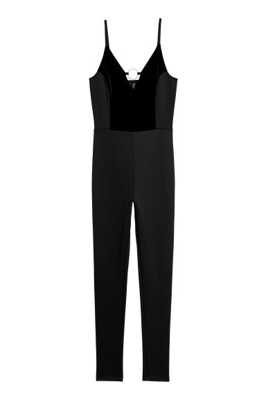 Fitted jumpsuit - Black -  | H&M