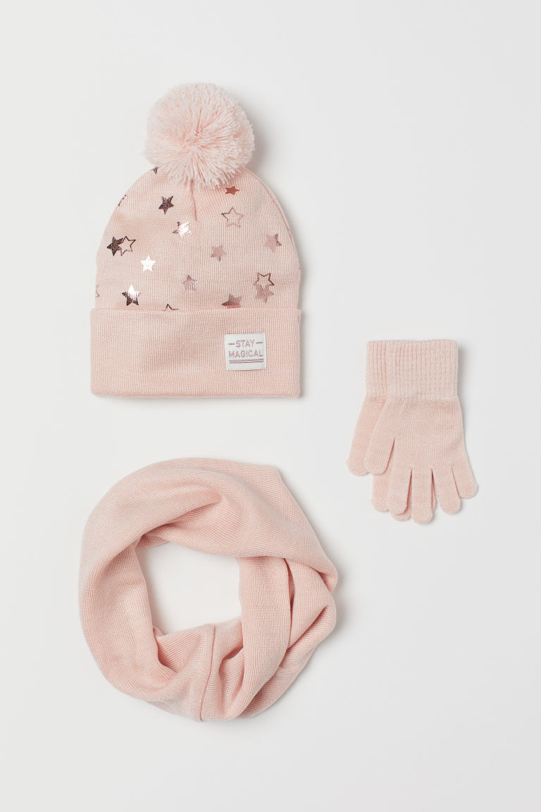 3-piece set - Light pink - Kids | H&M GB