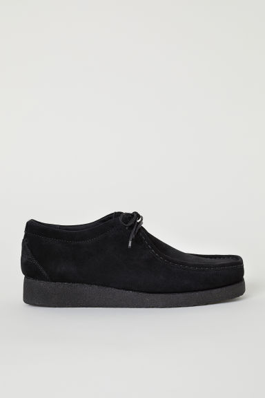 Suede shoes - Black - Men | H&M CN